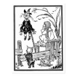 Vintage Wizard of Oz; Dorothy Toto Meet Scarecrow Post Cards