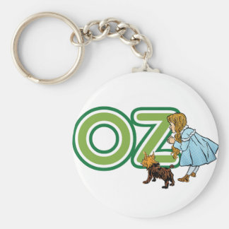 Vintage Wizard of Oz Dorothy Toto with BIG Letters Basic Round Button Key Ring