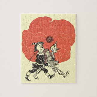 Vintage Wizard of Oz, Dorothy with Poppy Flowers Jigsaw Puzzle