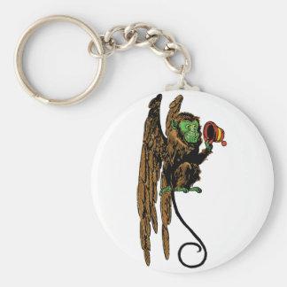 Vintage Wizard of Oz, Evil Flying Monkey Hat Basic Round Button Key Ring