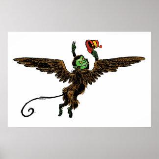 Vintage Wizard of Oz, Evil Flying Monkey Poster