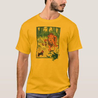 Vintage Wizard of Oz Illustration - Dorothy & Lion T-Shirt