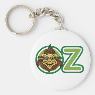 Vintage Wizard of Oz, Lion in the Letter O Basic Round Button Key Ring