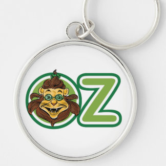 Vintage Wizard of Oz, Lion in the Letter O Silver-Colored Round Key Ring