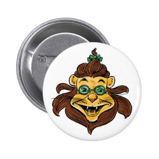 Vintage Wizard of Oz, Lion Wearing Green Glasses 6 Cm Round Badge