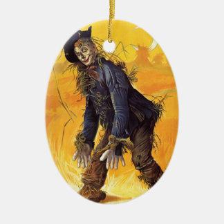 Vintage Wizard of Oz Scarecrow Ceramic Ornament