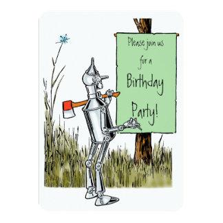 Vintage Wizard of Oz. Tinman and Lion Birthday 11 Cm X 16 Cm Invitation Card
