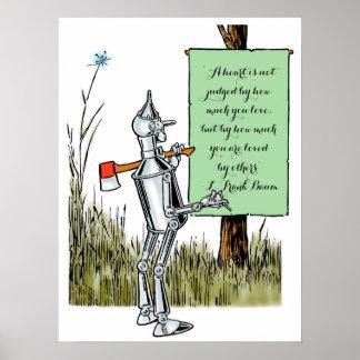 Vintage Wizard of Oz, Tinman Reading Sign Print