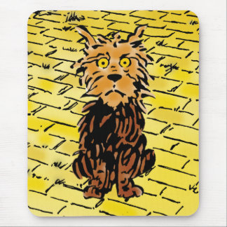 Vintage Wizard of Oz Toto on the Yellow Brick Road Mouse Pad