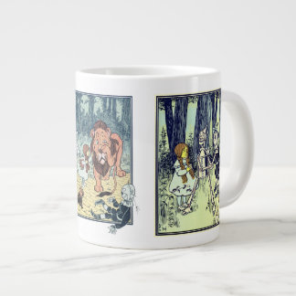 Vintage Wizard of Oz, Various Book Characters Extra Large Mug