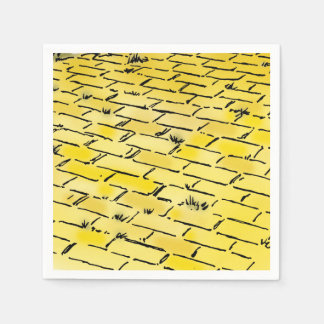 Vintage Wizard of Oz Yellow Brick Road by Denslow Disposable Napkins