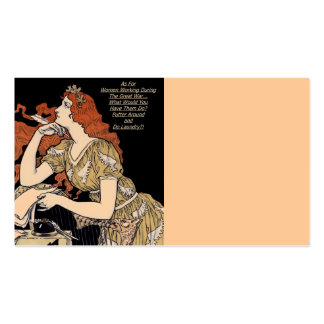 Vintage Woman at Her Writing Desk Double-Sided Standard Business Cards (Pack Of 100)
