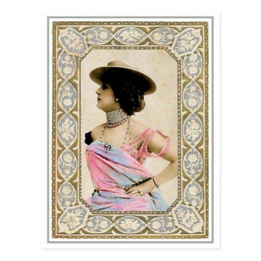 VIntage Woman Attitude Framed Postcards