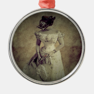 Vintage Woman Camera Art Decor Christmas Ornament