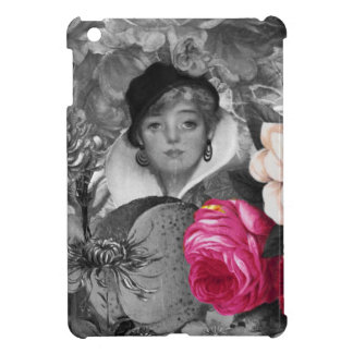 Vintage Woman Flower Garden Cover For The iPad Mini