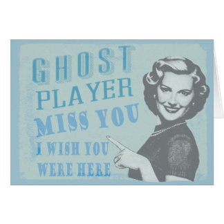 Vintage Woman Ghost Player Card