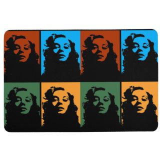 Vintage woman in colors floor mat