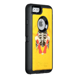 Vintage Woman Lips Ribcage Yellow Grunge OtterBox iPhone 6/6s Case