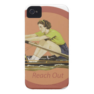 Vintage Woman Rower Case-Mate iPhone 4 Cases
