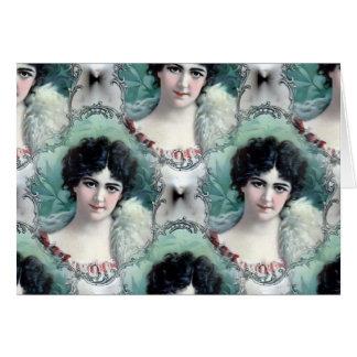 Vintage Woman Wallpaper Card