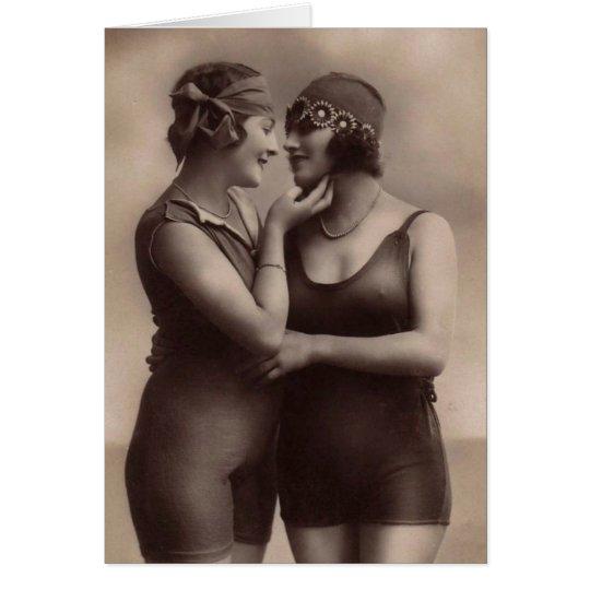 Vintage Women in Love Card