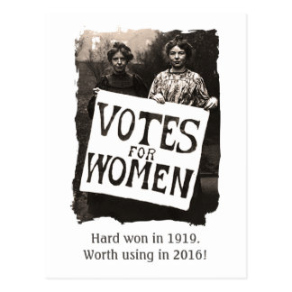 Vintage Women Vote 2016 Postcard