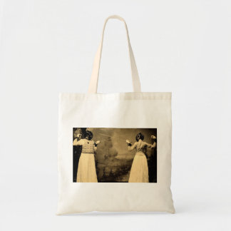 Vintage Women's Fencing Bout Budget Tote Bag