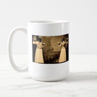 Vintage Women's Fencing Coffee Mug