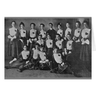 Vintage Women's Fencing Team Note Card