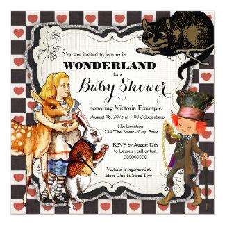 Vintage Wonderland Baby Shower 13 Cm X 13 Cm Square Invitation Card