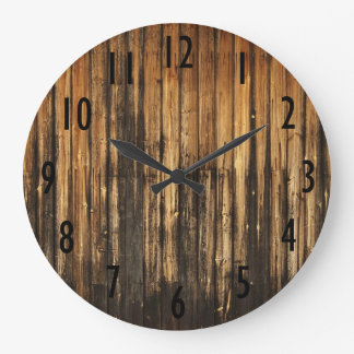Vintage Wood Boards Wall Clock