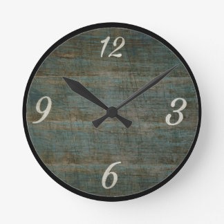 Vintage Wood Look Wall Clock