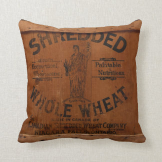 Vintage Wood Shipping Crate Photo Industrial Chic Throw Cushion
