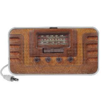 Vintage Wooden Radio Speaker