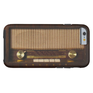 Vintage Wooden Radio Tough iPhone 6 Case