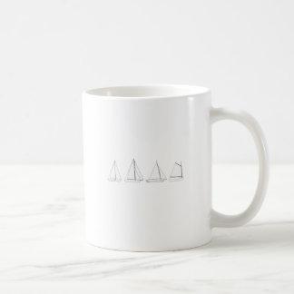 Vintage Wooden Sailboats Logo Coffee Mug