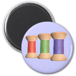 Vintage Wooden Spool Magnet