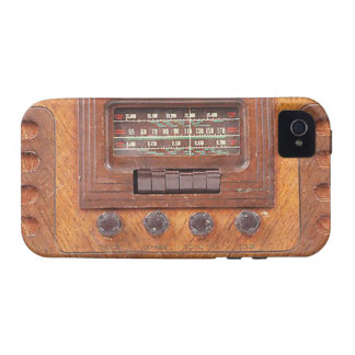 Vintage Woodenl Radio iPhone 4/4S Cover