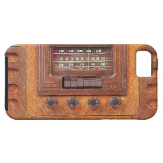 Vintage Woodenl Radio Tough iPhone 5 Case