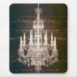 vintage woodgrain purple chandelier fashion mousepad
