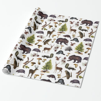 Vintage Woodland Animals Wrapping Paper