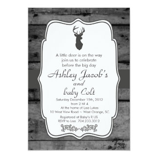Vintage Woodland Bambi Baby Deer Baby Shower Card