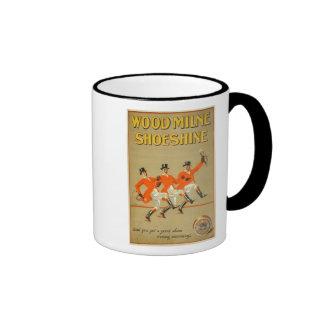 Vintage Woodmilne Shoeshine Ad Ringer Coffee Mug
