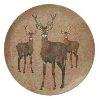 Vintage Woodsy Elks Plate