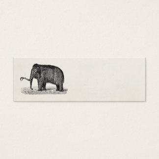 Vintage Woolly Mammoth Illustration Wooly Mammoths Mini Business Card