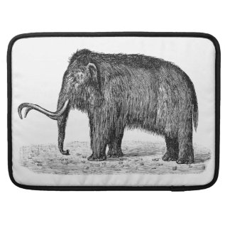 Vintage Woolly Mammoth Illustration Wooly Mammoths Sleeve For MacBook Pro