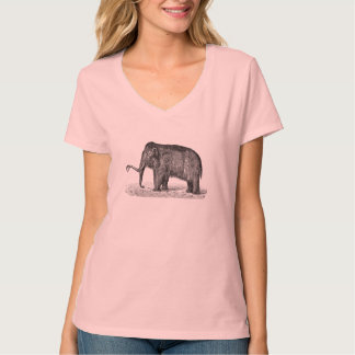Vintage Woolly Mammoth Illustration Wooly Mammoths T-Shirt