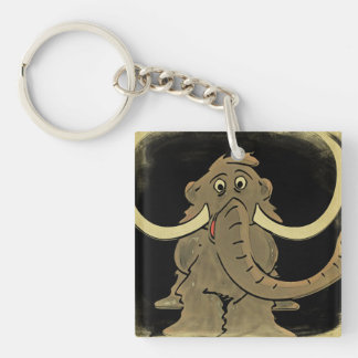 Vintage Woolly Mammoth Key Ring