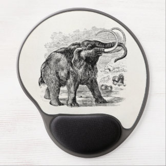 Vintage Woolly Mammoth Personalized Extinct Animal Gel Mouse Pad