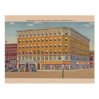 Vintage Woolworth Building Watertown NY Postcard